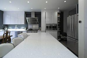 Gloss white kitchen design