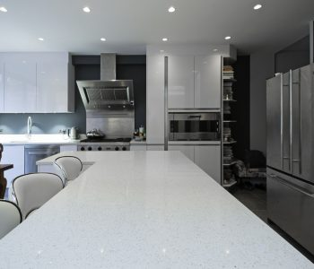 Gloss white kitchen design
